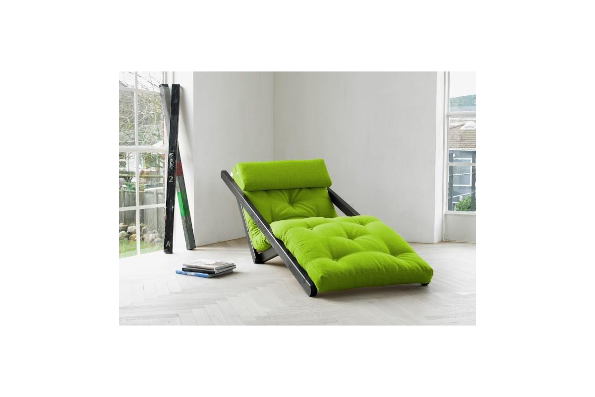 Chaiselongue letto figo in pino scandinavo con futon - Divani letto chaise longue ...