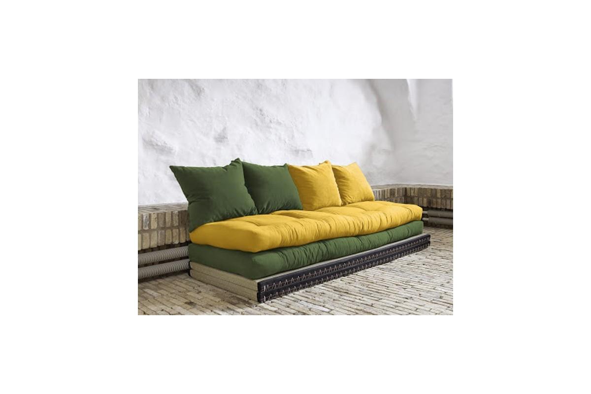 Divano letto tatami con futon giapponese in puro cotone - Divano letto futon ...