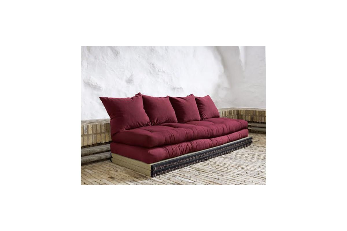 Divano letto tatami con futon giapponese in puro cotone for Letto futon