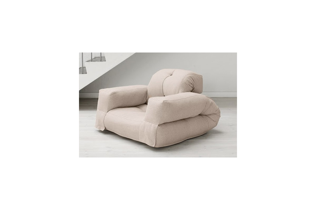 Poltrona futon hippo un futon giapponese trasformabile - Poltrona che diventa letto ...