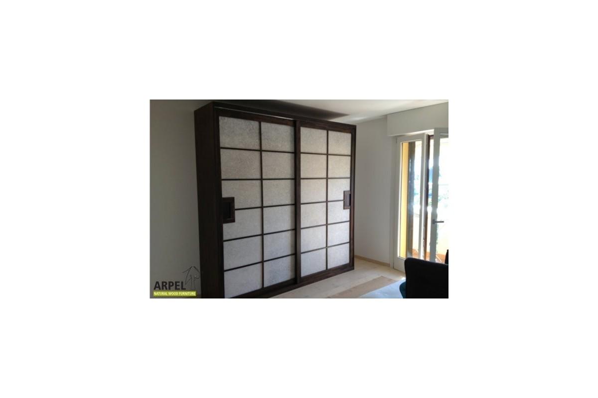 Japanese Wardrobe With 2 Rice Paper Shoji Doors