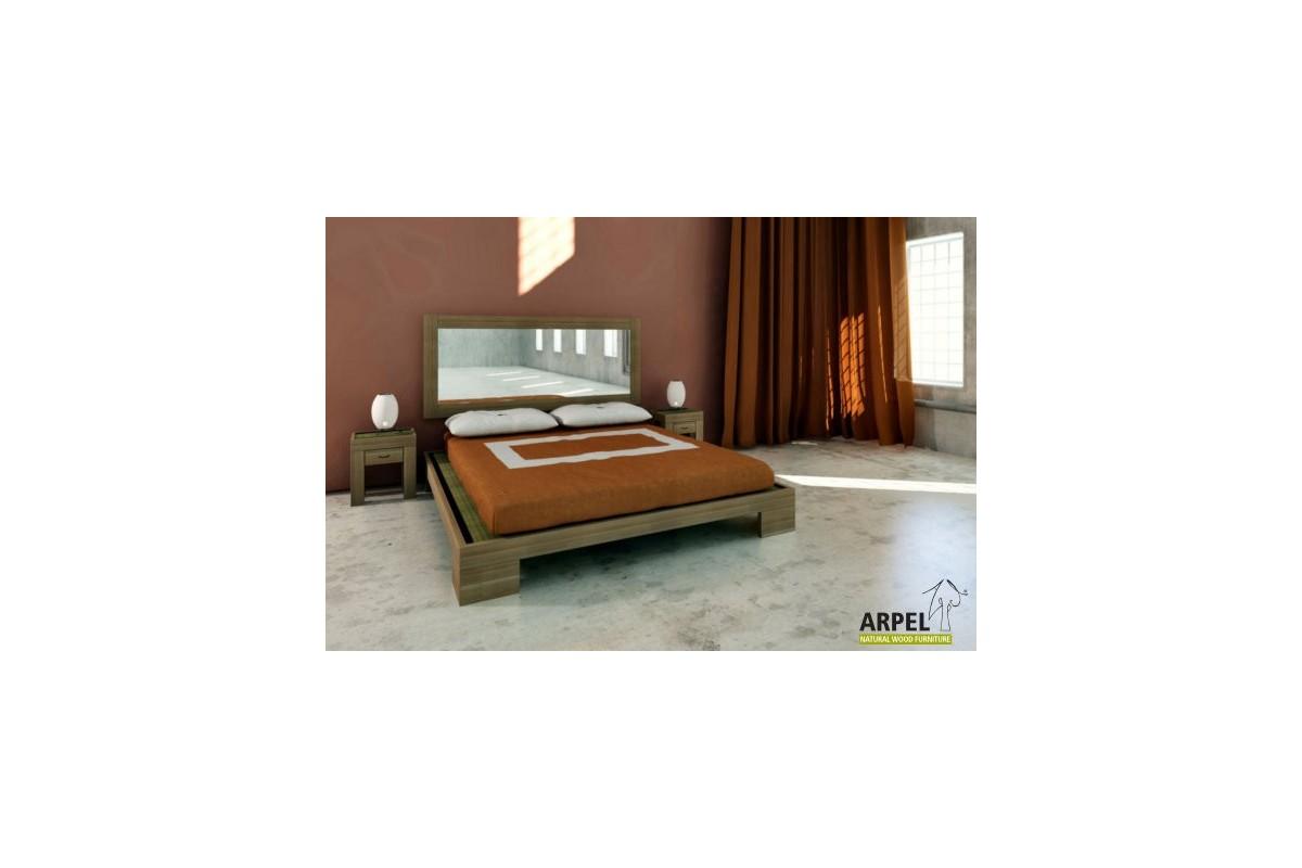 Testata specchio zen con cornice in legno di faggio massello - Specchio ovale camera da letto ...