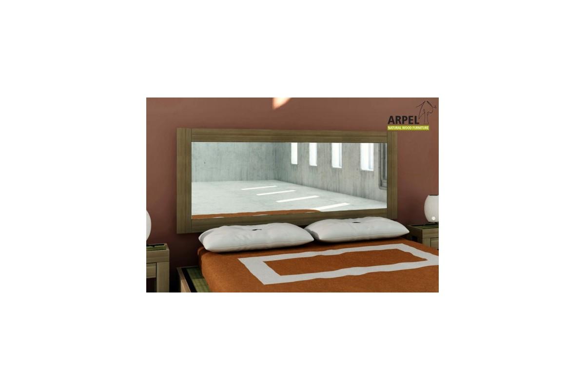 Testate letto a specchio con cornici in legno di faggio massello ...