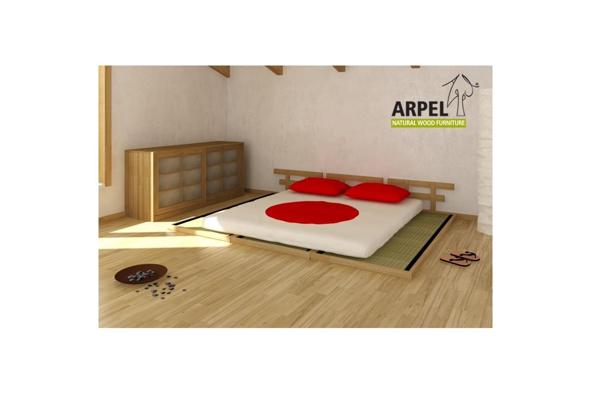 Il letto basso haru a tre piazze con tatami giapponesi - Letto tre piazze ...