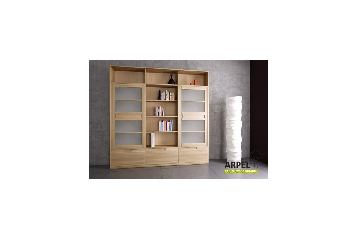 Libreria Variant Base con ante giapponesi e cassetti