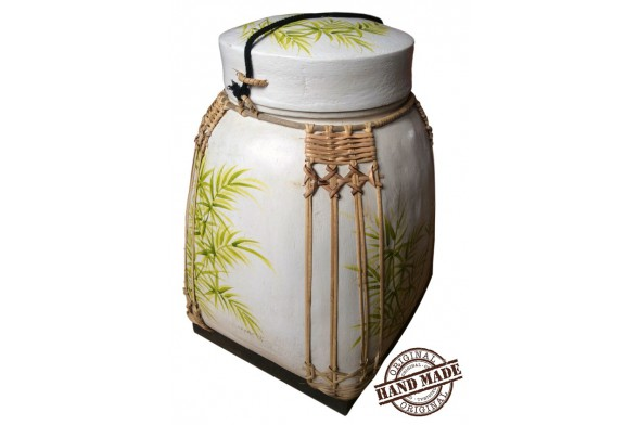 Vaso bamb naturale intrecciato 35x35x52 cm for Bambu in vaso acqua