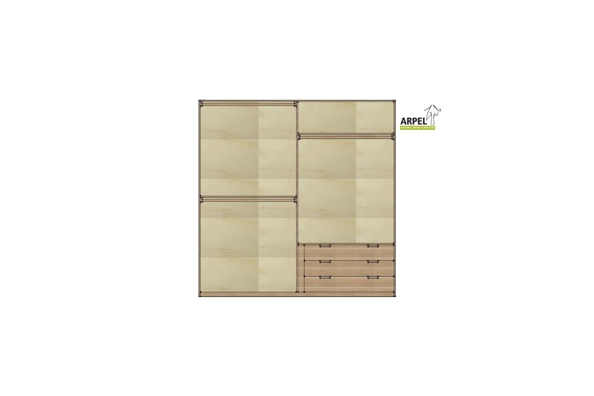 Cassettiera da interno per armadio 240 250 cm - Cassettiere interne per armadi ...