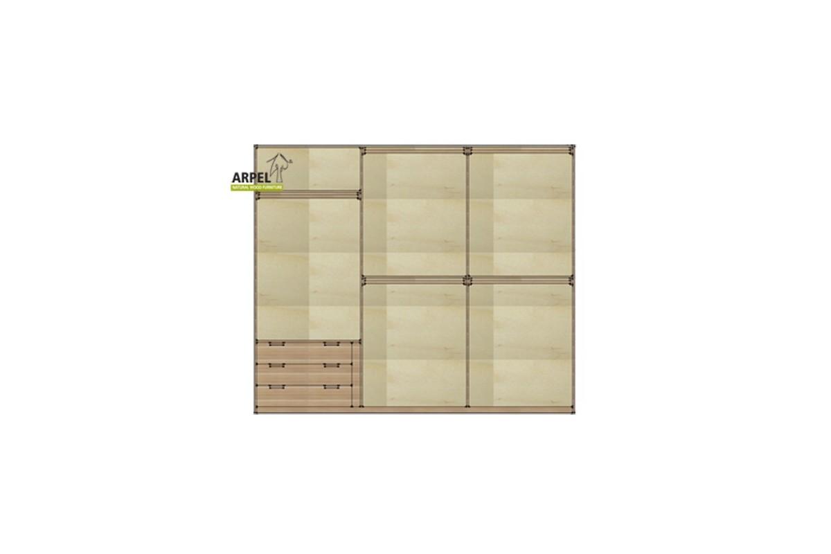 Cassettiera da interno per armadio 300/315 cm