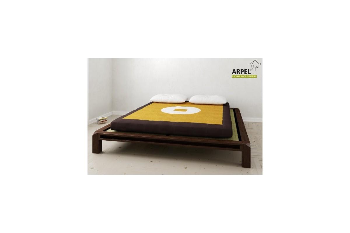Letto basso giapponese aiko con tatami e futon for Futon e tatami