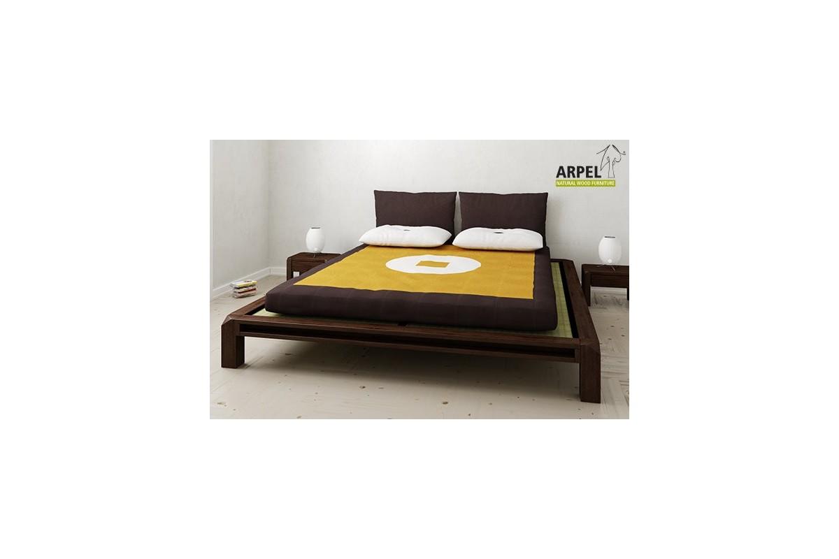 Letto basso giapponese aiko con tatami e futon - Letto giapponese ...