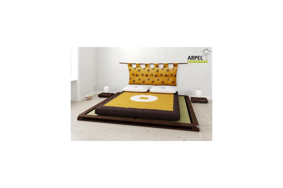 Letto basso giapponese aiko con tatami e futon for Futon giapponese ikea
