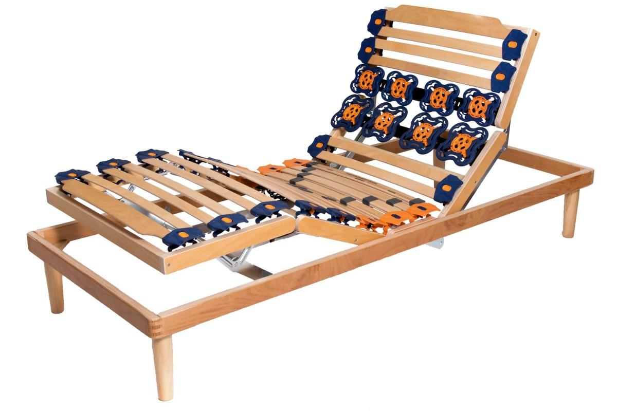 electric adjustable slatted bed base flora