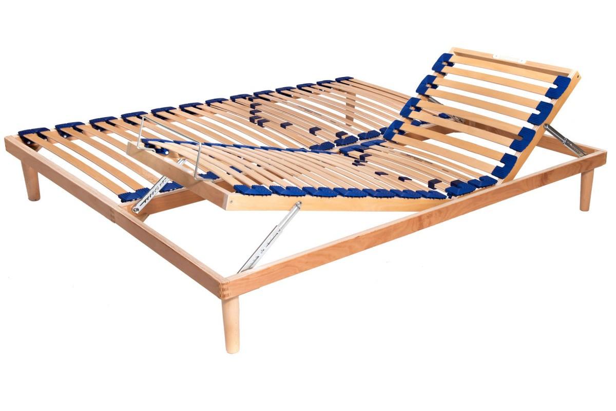 Height Adjustable Slatted Bed Base Active