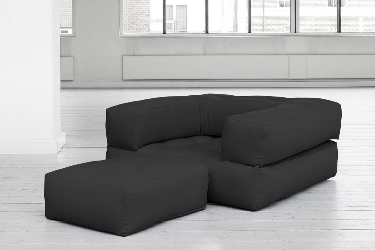 Poltrona letto cube un innovativo futon trasformabile - Poltrona letto comoda ...