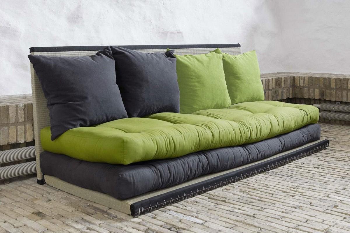 Divano letto tatami con futon giapponese in puro cotone for Divano letto futon