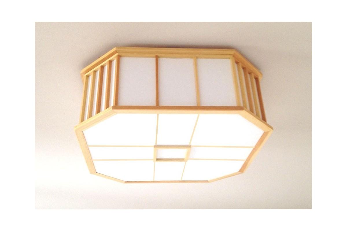 Lampadario Carta Di Riso : Lampada da soffitto akaru in legno e carta di riso naturale