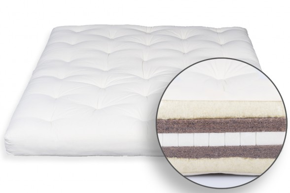Futon in Wool, Latex & Double Coconut