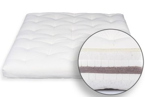 Futon Bio Cotton, Double Latex, Coconut & Wool