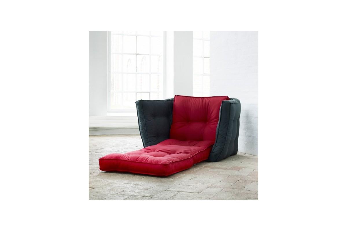 Poltrona letto dice un futon giapponese trasformabile for Poltrona letto futon