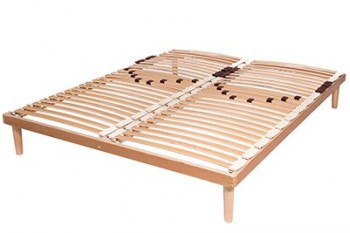 Double row slatted bed bases
