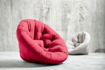 Transformable futon armchairs