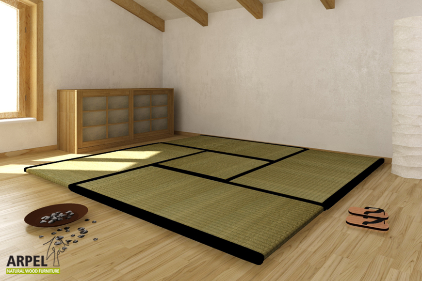 typisch japanisch wohnen tatami matten als bodenbelag. Black Bedroom Furniture Sets. Home Design Ideas