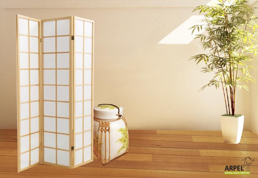 Separé e vasi di bambù