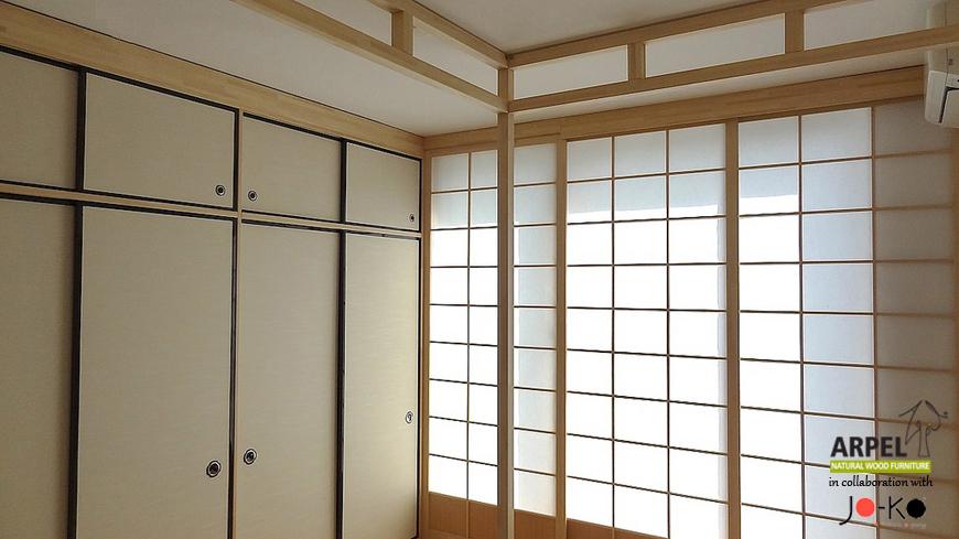 Esempio di arredamento su misura con pareti shoji foto for Stanza giapponese