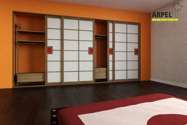 Camere da letto in legno stile giapponese vendita mobili for Camera da letto in stile cabina