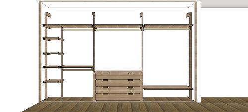 Japanese walk in closets vendita mobili giapponesi - Interno cabine armadio ...