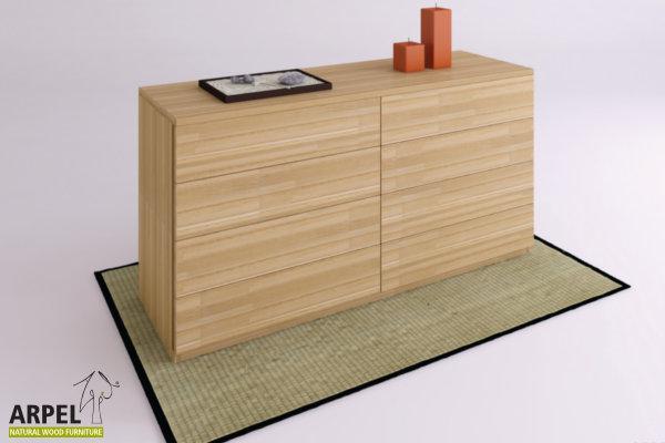 Camere da letto in legno stile giapponese vendita mobili - Letto cassettiera ...