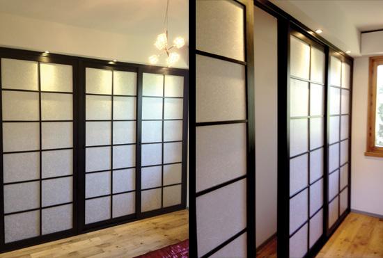 Lavori su misura vendita mobili giapponesi arpel arredamenti naturali in legno - Porte scorrevoli stile giapponese ...