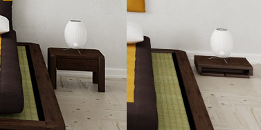 schlafpodest aiko mit tatami der original japanischen. Black Bedroom Furniture Sets. Home Design Ideas