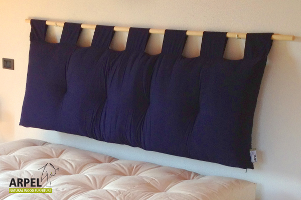 Letto giapponese aiko dal design raffinato e minimalista - Cuscino testata letto ...