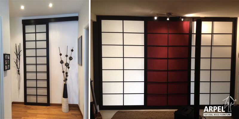 Pareti scorrevoli giapponesi vendita mobili giapponesi arpel arredamenti naturali in legno - Mobili separatori ...