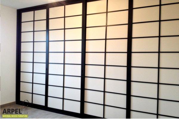 japanischer begehbarer kleiderschrank japanischwohnen arpel naturholzmoebel. Black Bedroom Furniture Sets. Home Design Ideas