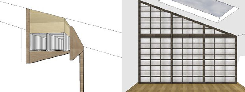 Pareti scorrevoli giapponesi - Vendita Mobili Giapponesi - Arpel Arredamenti Naturali in legno