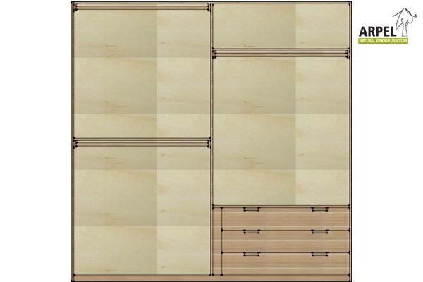 Cassettiera da interno per armadio 250 cm