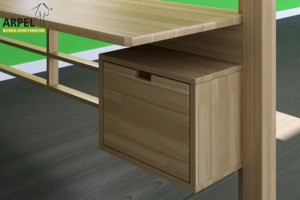 Storage cube with drawer