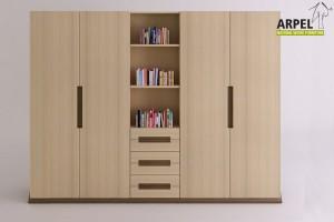 Origami wardrobe central bookcase