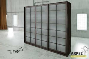 300 cm Shoji Wardrobe with Rice Paper Coated Sliding Doors