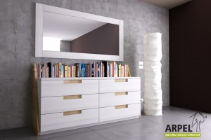 Origami bookcase chest of drawers