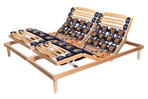 Electric Adjustable Slatted Bed Base Flora Deluxe