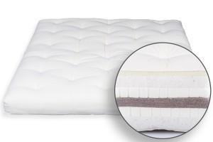 Futon Bio Cotton, Double Latex, Coconut & Wool