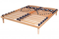 Simple slatted bed bases